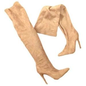 Shoe dazzles over the knee faux suede boots 7.5